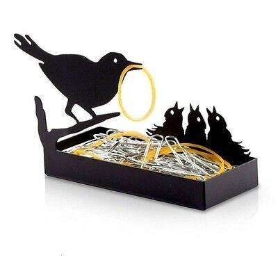 Home Office Desk Original Design Gifts Birds Metal Organizer paper clips staples
