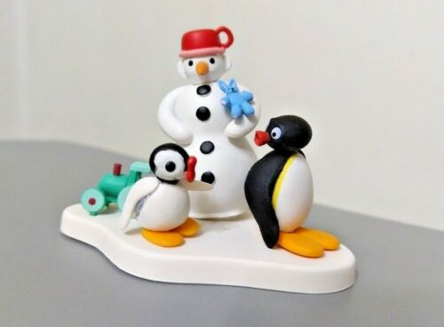 Pygos Pingu action figure series #05 Pingu and Sister in Christmas rare set