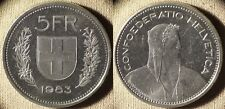 Switzerland : 1983 5 Fr BU  Cameo Proof Like Surface #40a.2   IR6244