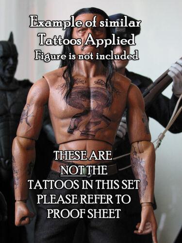 """Dwayne /""""The Rock/"""" Johnson Inspiré Pack-Waterslide Decals Échelle 1//6 tatouages"""