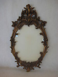 Details about brass photo frame vintage ornate oval frame victorian - Vintage Rococo Gilt Gold Plated On Brass Wall Oval Photo
