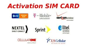 USA Activation Sim Card Verizon T-Mobile AT&T Sprint iPhone 6S 7 8 X XS 11 12 13