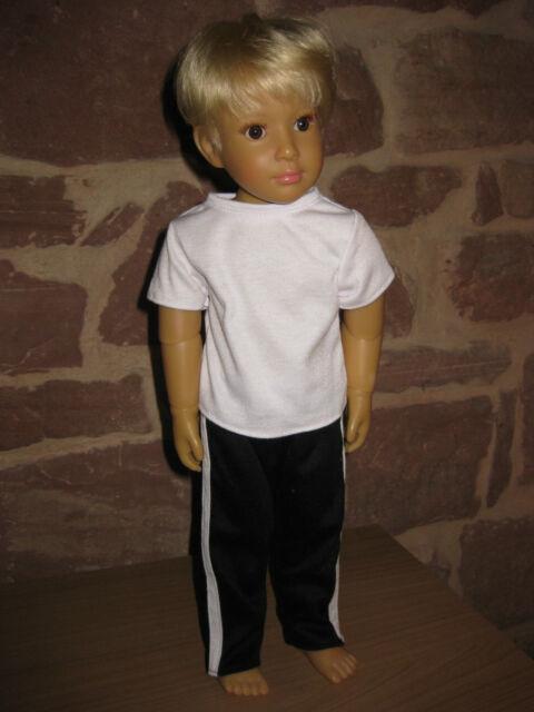2-tlg Turnset, Jungen, Puppenkleidung, 46cm Steh Puppe, ohne Kidz`n Cats Puppe