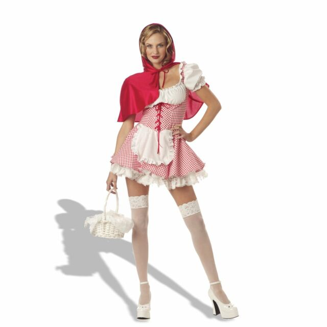 Miss Little Red Riding Hood Halloween Costume Cosplay Sexy Adult