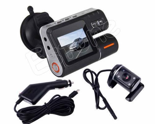 HD 1280 x 720 Dual Car Vehicle Camera Dash DVR Video Recorder Crash Cam G-sensor
