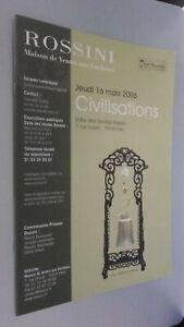 Catálogo De Venta Demuestra Rossini Jueves 16 Mars 2006 París Buen Estado