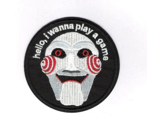 """Saw Film Jigsaw Billy the Puppet 4.75/"""" Fer//Coudre Sur Brodé Patch"""