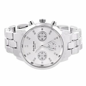 Milano Stainless Steel Ring.Silver Tone Watch Gino Milano Quartz Stainless Steel Back Analog