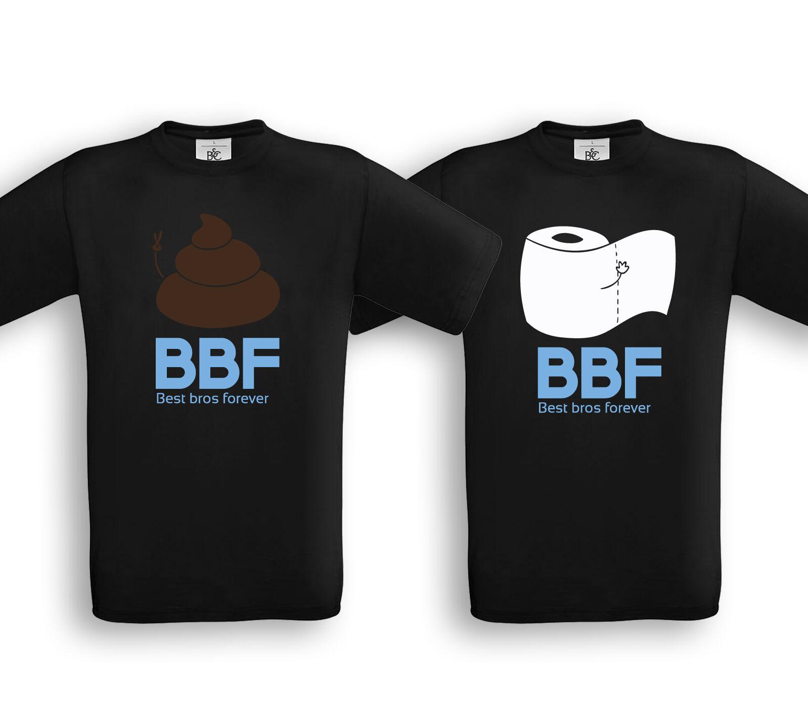 BEST BROS FOREVER - Partner Shirts - Friends Brüder Bros Geschwister Geschenk  | Großartig  | Modisch  | Trendy
