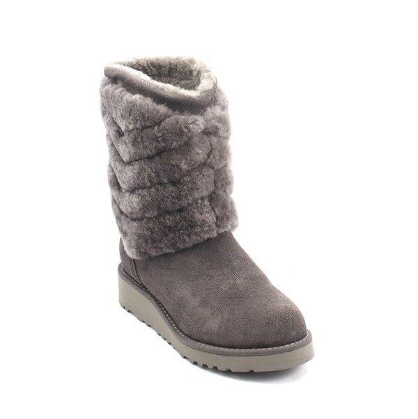 Gianni Gianni Gianni Renzi Couture 1007 A gris Gamuza de Piel de Oveja mitad de la pantorrilla botas 36 US 6  solo para ti