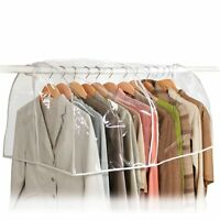 Clear Vinyl Storage Bag Closet Garment Cover Portable Clothes Store Shoulder Men