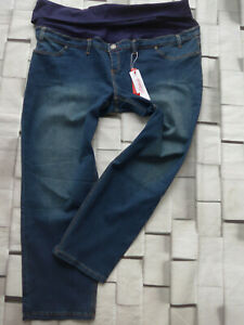 Sheego-Jeans-Trousers-Slip-Size-44-to-58-Blue-plus-724-Elastic-Band
