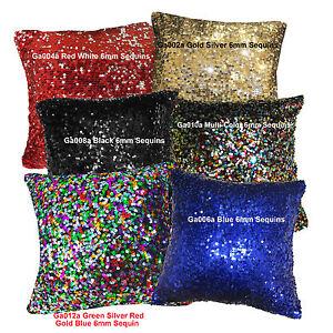 Ga-6mm-Sequins-Pick-1-color-of-6-Velvet-Cushion-Cover-Pillow-Case-Custom-Size