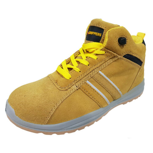 BLACK or NAVY MENS SAFETY WORK TRAINERS SHOES with STEEL TOE CAP BOOTS in SAND