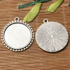 28pcs dark silver color  round shaped cabochon setting in 10mm EF3307