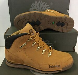 por favor confirmar Inútil Preparación  Timberland Euro Rock Mid Hiker Wheat Nubuck Mens Boots Shoes, UK 8 ...