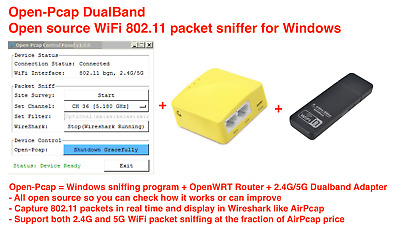 Dual Band WiFi sniffer, 802 11 packet sniffer for Windows(AirPcap  alternative) | eBay