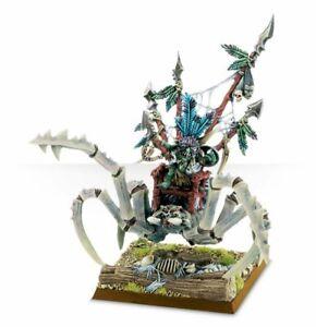 100% De Qualité Warhammer Forest Goblin Big Boss On Gigantic Spider (métal, épuisé)-afficher Le Titre D'origine