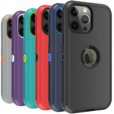 For iPhone 13 12 Pro Max 11 XR XS MAX Phone Case Heavy Duty  Shockproof Cover