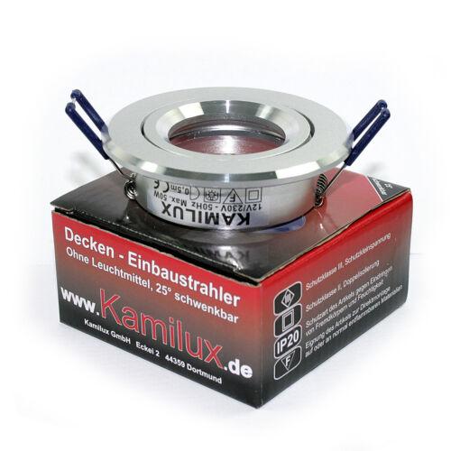230V COB LED 3W Bad-Spots Decken Einbaustrahler K5402 IP20 GU10 3W=30W ww kw