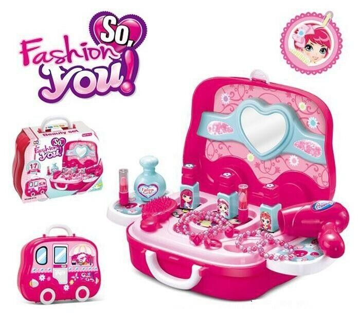 Play House Toys Girl Grooming Toys Model Happy Makeup Pretend Play Toys Gift For Kids