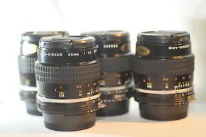 ONE-Nikon-Micro-Nikkor-55mm-f-2-8-AI-S-PRIME-Macro-lens-for-FM-FA-F3-F5-DF-D800