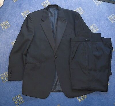 Da Uomo Cena Jacket (taglia 40) E Pantaloni (taglia 34) A Malapena Utilizzato In Nero-mostra Il Titolo Originale