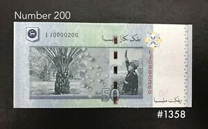 Malaysia-RM50-200th-Number-UNC