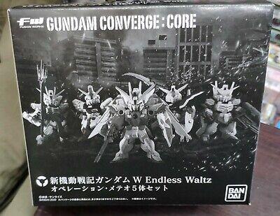 NEW Bandai FW GUNDAM CONVERGE CORE W Endless Waltz Operation Meteor Set 5pcs F//S