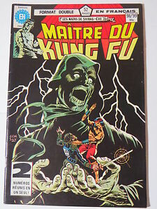 MAITRE DU KUNG FU  98 / 99 B&W French comic Heritage Marvel 111  112