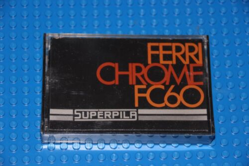 1 SUPERPILA  FERRICHROME  FC  60     BLANK CASSETTE TAPE SEALED