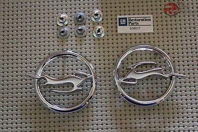 64 Impala Rear Quarter Panel Deer Emblems Pair New