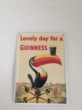 Guinness Bier - LOVELY DAY TUKAN WETTER  - Mini Blechschild Blechkarte sign 29