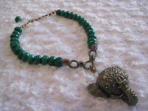 HEIDI-DAUS-034-Imperial-Elephant-034-Emerald-17-1-4-034-L-Necklace-Orig-289-95