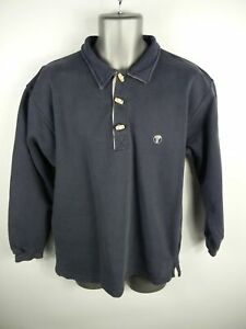 MENS-FAT-FACE-NAVY-BLUE-TOGGLE-UP-LONG-SLEEVED-THICK-POLO-STYLE-SHIRT-UK-S-SMALL