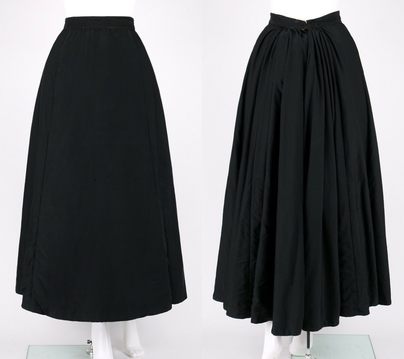 VICTORIAN Couture c.1890's Bodice Bustle Skirt Dr… - image 5