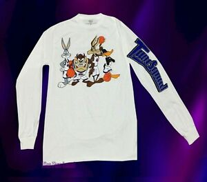 New Space Jam Looney Tunes Both Sides Classic Long Sleeve Mens T Shirt Ebay
