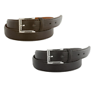 2-Pack Bogo Men's Genuine Leather Dress Belts