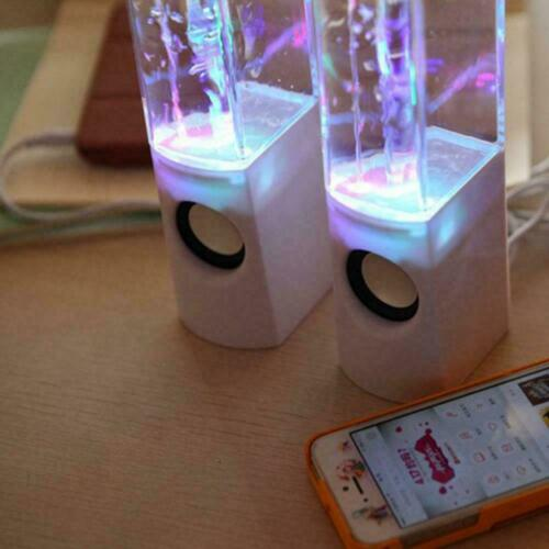 Light Dancing Water Music Fountain Light Speakers For Laptop HXW HOXXO Y0V7