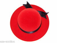 High Quality Red Velvet Hat Shape Jewelry Gift Box For Ring
