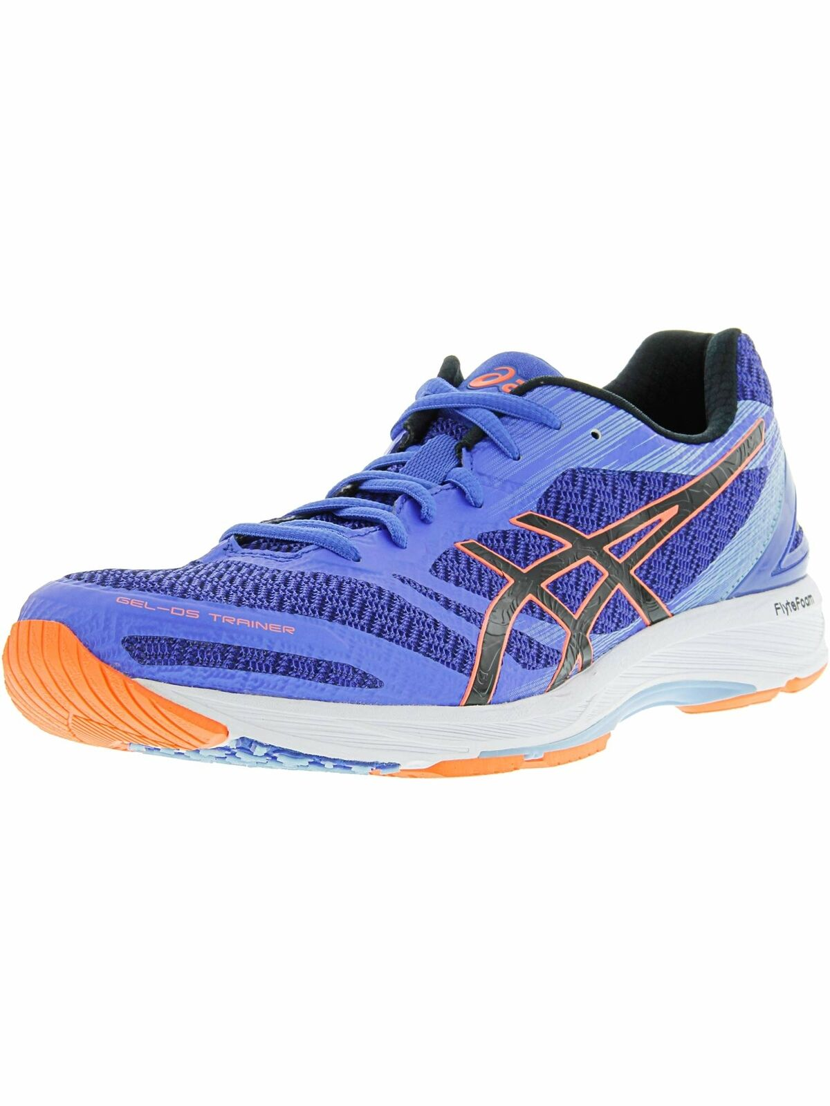 ASICS WOMEN'S GEL-DS TRAINER 22 RUNNING SHOE blueE PURPLE BLACK CORAL 7 M US