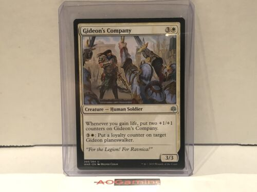 NM War of the Spark Gideon/'s Company MTG