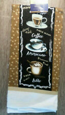 Brown Home Collection Coffee-Themed Kitchen Towels 15x25 in.