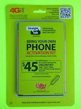 STRAIGHT TALK Verizon 4G LTE Network  FULL MICRO NANO SIM CARDS (Best Deal!)