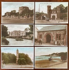 6 x Co Antrim Vintage Postcards Northern Ireland 1930s