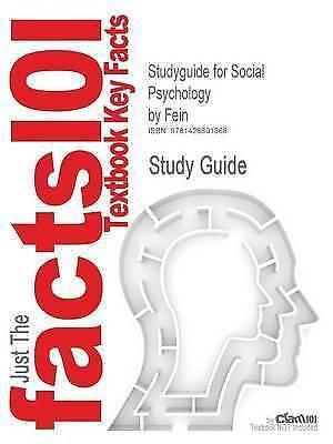 1 of 1 - Cram101 Textbook Reviews, Social Psychology, Very Good Book