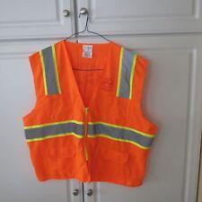 New Safety Vest 2X-Large (XXL) Orange Knit 2 Bordered ANSI Compliant Reflective