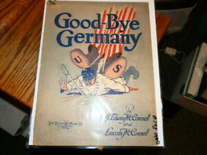 #8798, Good-bye Allemagne, 1914,wwi, Rarement Vu Sheet Music-wi,seldom Seen Sheet Music Fr-fr Afficher Le Titre D'origine