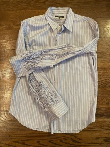 Comme Des Garcons Homme Plus Stripe with ruffled s