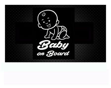 Baby ON BOARD Style 2 Sticker Hangover Baby Kind Autoaufkleber Aufkleber 11x16cm